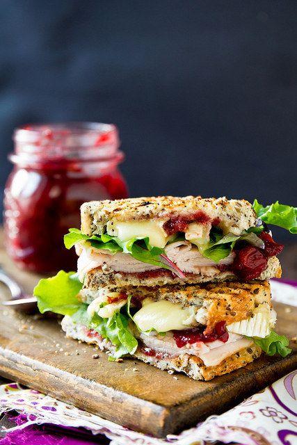 Turkey brie cranberry sandwich