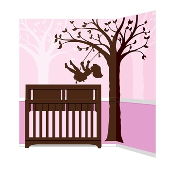 Silhouettes can give even the most sophisticated room a touch of fancifulness  Paint the silhouettes of this tree and the little girl in this do-it-yourself mural in a dark brown over lavender, pink or any other color to make your daughter's room whimsical  To give the room added depth, repeat the tree only in the background, but paint it in a color slightly lighter than your wall color more... http://www.simplyvelvet.com/product-p/eotw51406.htm: Paint By Number, Idea, Girl, Swings, Wall Murals, Silhouette Swing, Baby, Room, Kid
