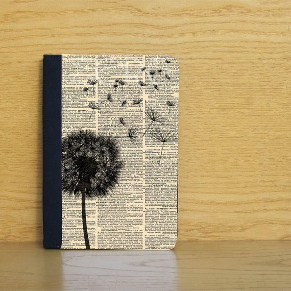 Dandelion ipad mini case, leather ipad case with dandelion on vintage dictionary page, ipad cover, gift idea op Etsy, 19,97€