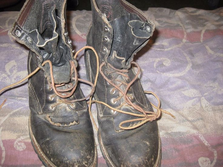 vintage steel toed red wing logger boots 10D #RedWing #WorkSafety