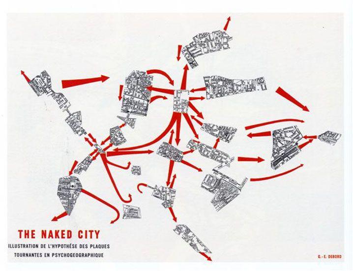 Guide psychogéographique de Paris, Guy Debord, 1957