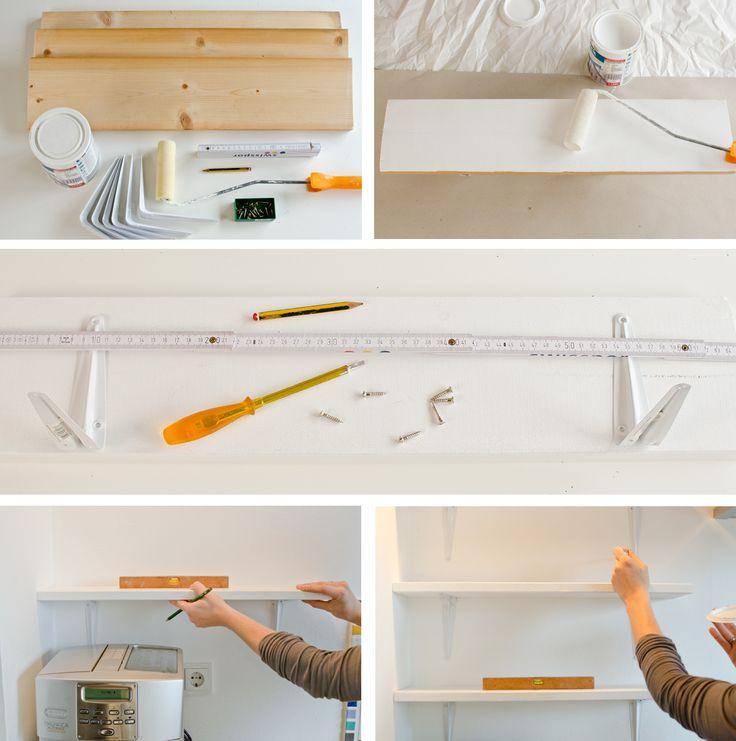 Awesome DIY Anleitung f r g nstige Regale als Ablage in der K che