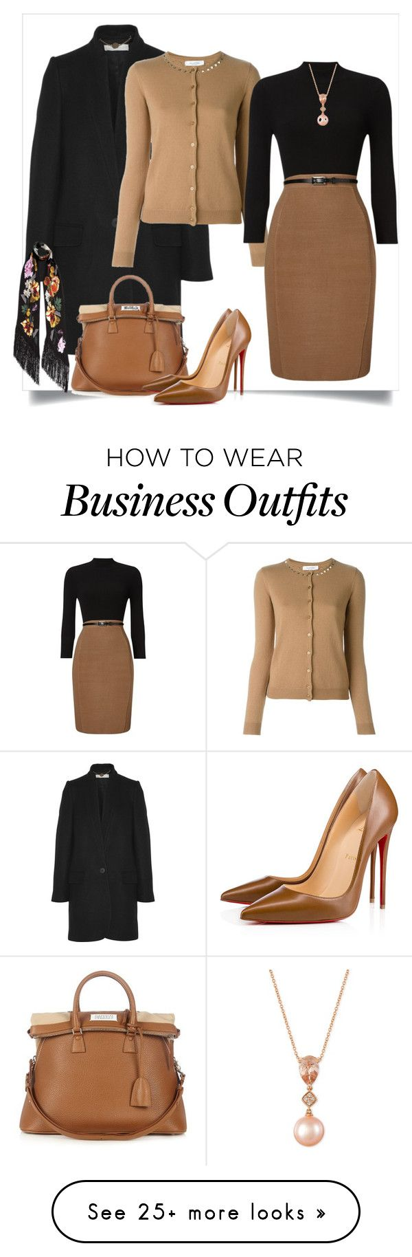 """""""Work Wear"""" by danewhite on Polyvore featuring STELLA McCARTNEY, Valentino, Phase Eight, Maison Margiela, Christian Louboutin, Rockins and LE VIAN"""