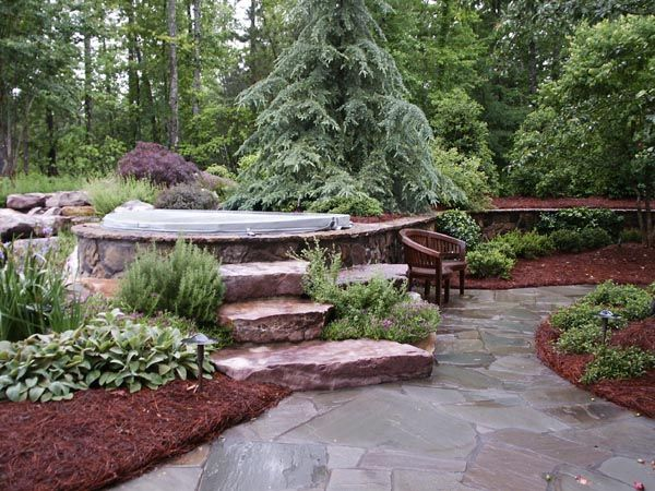 Hot Tub Landscaping | Myatt Landscaping - Gallery
