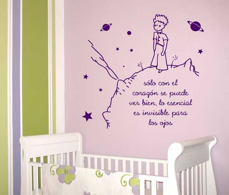 VINILO DECORACION PARED - WALL STICKER - INFANTIL- EL PRINCIPITO 2 - 80x85cm | eBay
