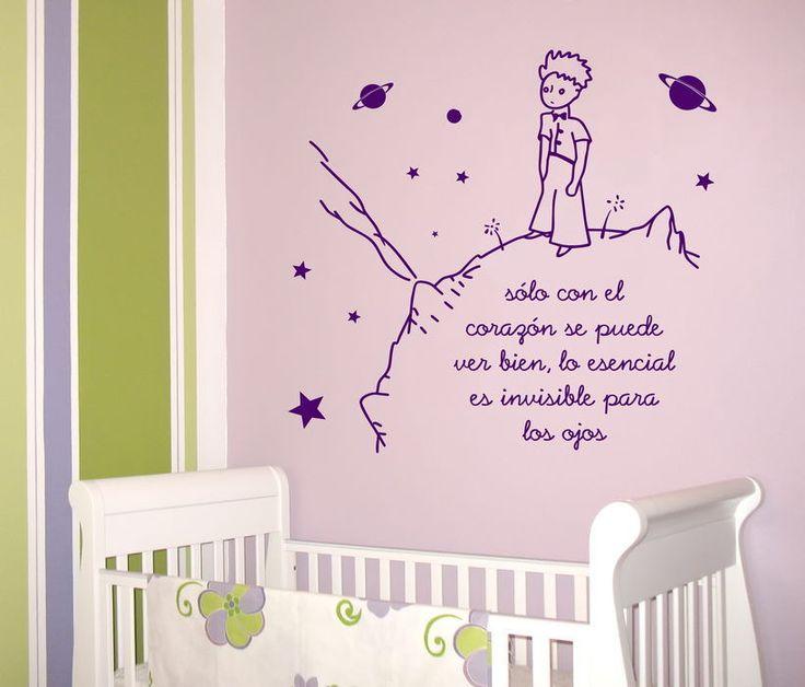 detalles de vinilo decoracion pared wall sticker infantil el principito xcm