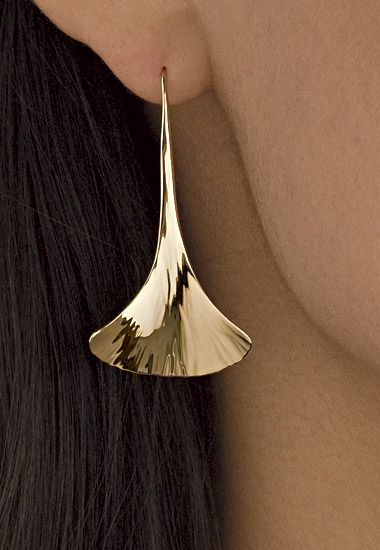 Ginkgo Drop Earrings: Stephen LeBlanc: Gold or Silver Earrings - Artful Home
