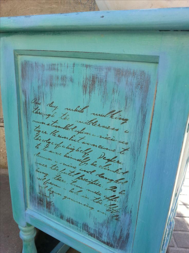 Mix Florance, Greek Blue, Louis blue and Dark Wax Chalk Paint by Annie Sloan