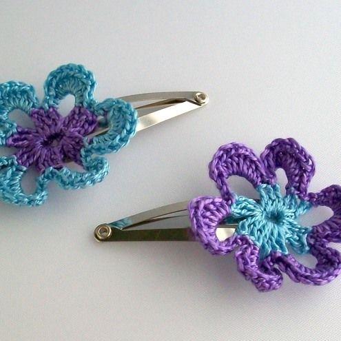 CROCHET FLOWER HAIR   Crochet For Beginners