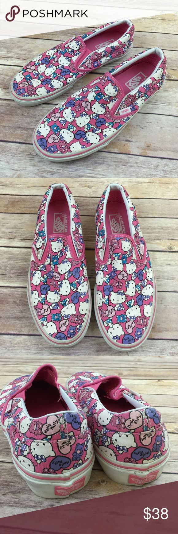 Vans Hello Kitty Slide On Tennis Shoes Excellent condition. Worn once.  Woman's 9 Vans Shoes Sneakers