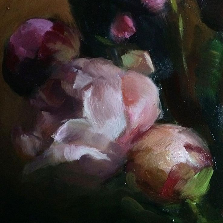 """217 Likes, 11 Comments - Stephanie Deshpande (@stephaniedesh) on Instagram: """"Detail of peonies #peonies #allaprima #floralpainting #representationalpainting #oilpainting…"""""""