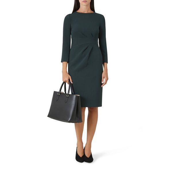 sale usa online quality design factory outlets Hobbs Green 'Alexa' knee length shift dress | Debenhams | Hobbs ...