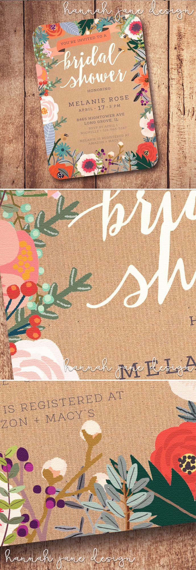 bridal shower invitations vector free%0A Rustic Shabby Chic Bridal Shower Theme  bright stylish bridal shower  invitation printable is perfect for