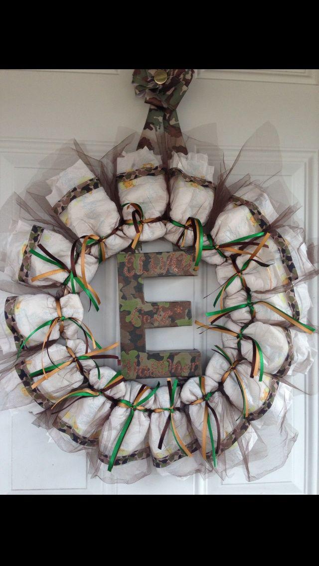 Camo Diaper wreath