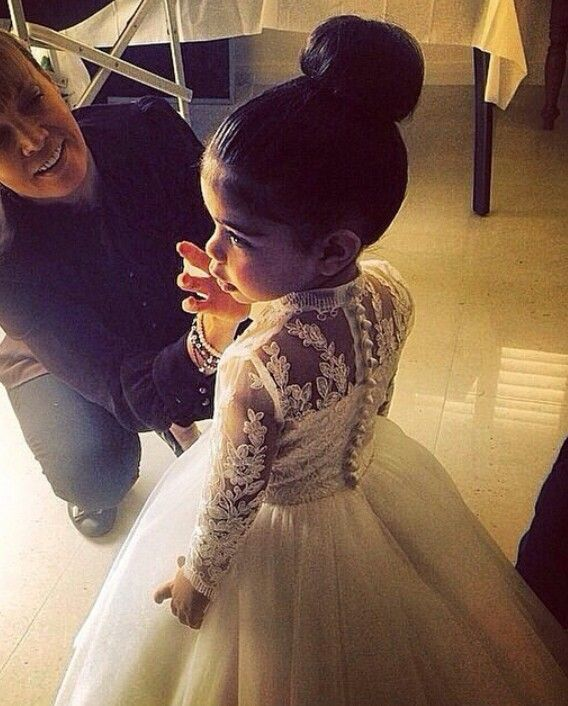 Flower girl; love her dress