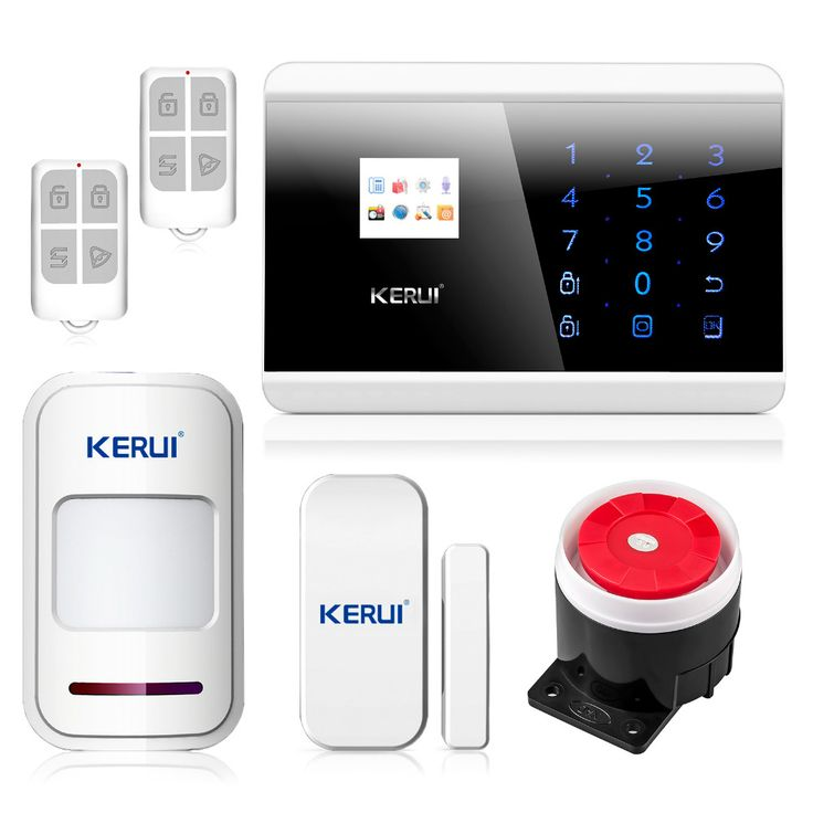 English Russian French Voice Latest DIY Touch keypad TFT color Display GSM&PSTN Dual Net Home Security System Alarm