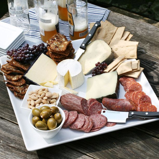 easy hors d'oeuvres display for outside | Easy Gourmet Entertaining foodie, pantry goods, igourmet