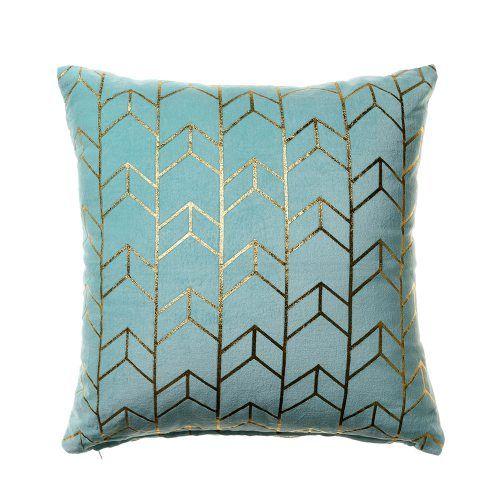 Amber Velvet Geo Cushions