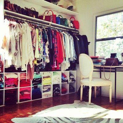 lkea shelves strike again! Love the idea of turning them sideways and having an instant shoe rack/clothes shelves!
