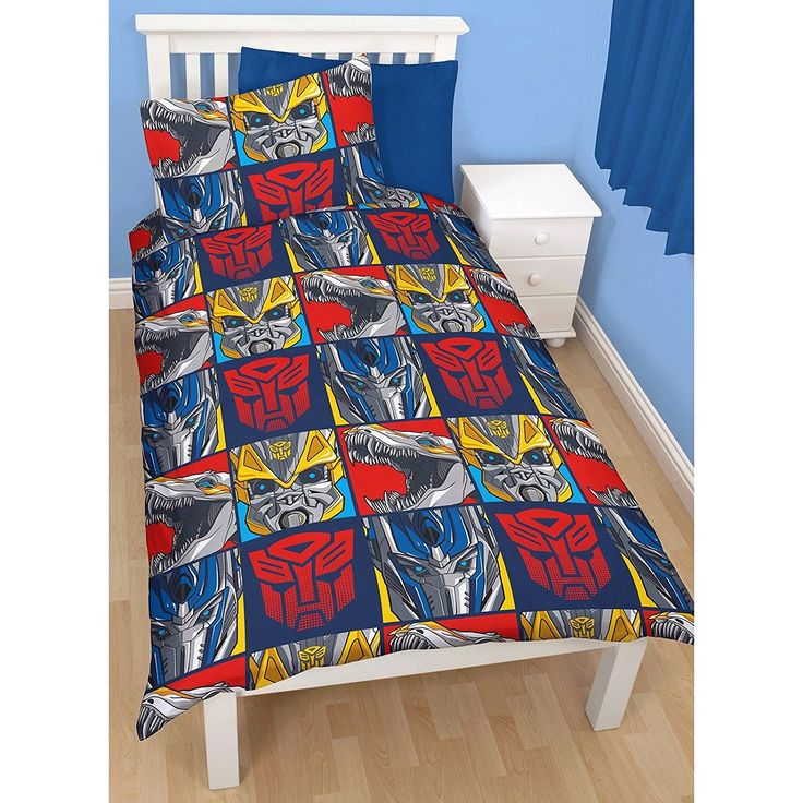Transformers Childrens/Kids Age Of Extinction Reversible Single Duvet Cover Bed (Twin) (Blue/Red) //Price: $9.76 & FREE Shipping //     #bedding sets