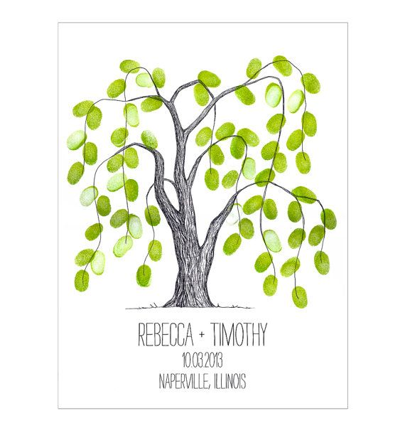 Wedding Guest Book Thumbprint Tree 185 250 Guests 22 X: Best 25+ Thumbprint Tree Wedding Ideas On Pinterest