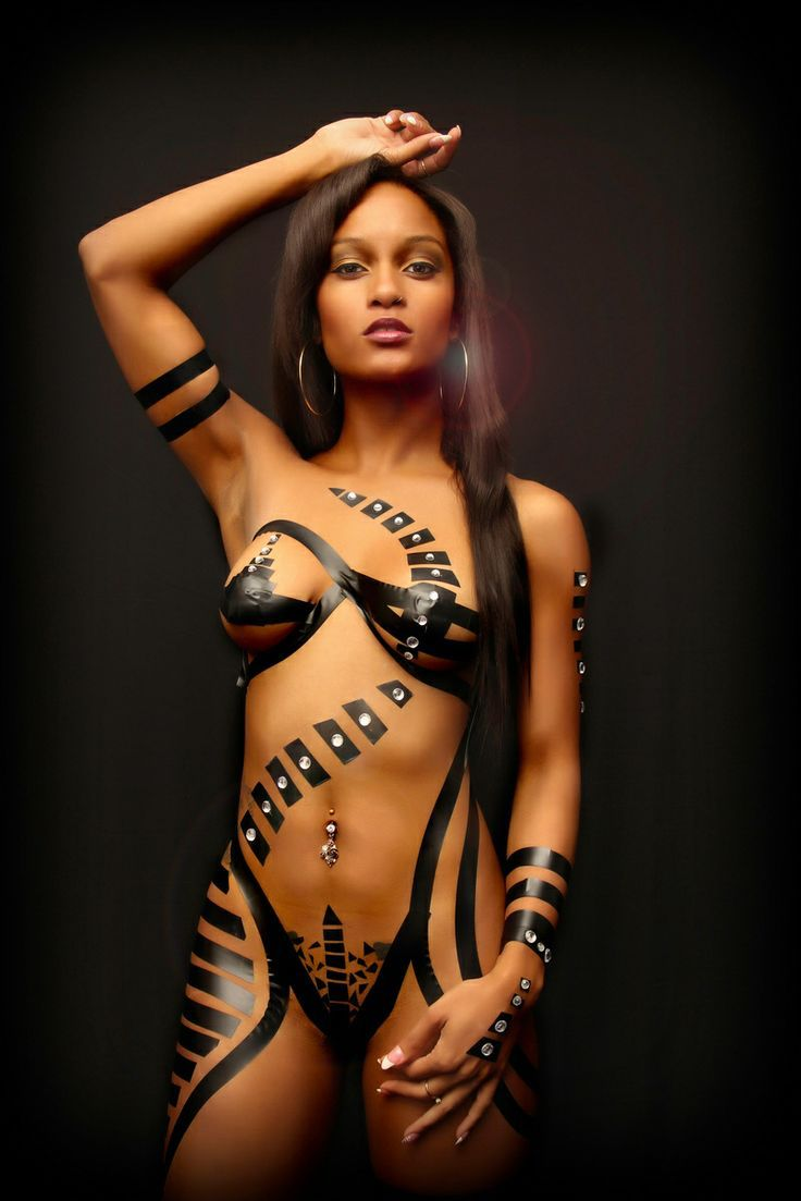 Porn star in puerto rican body paint