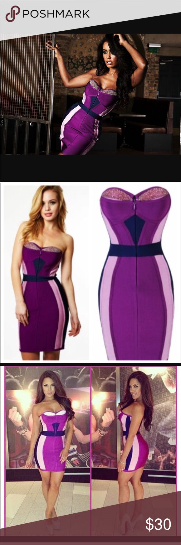 Sexy purple body contour bandage dress Sexy purple body contour bandage dress. IM MOVING I NEED TO GET RID OF ALOT OF MY CLOTHES!!! ITS PRICED SO LOW SO I CAN SELL THEM QUICKLY!!! Dresses