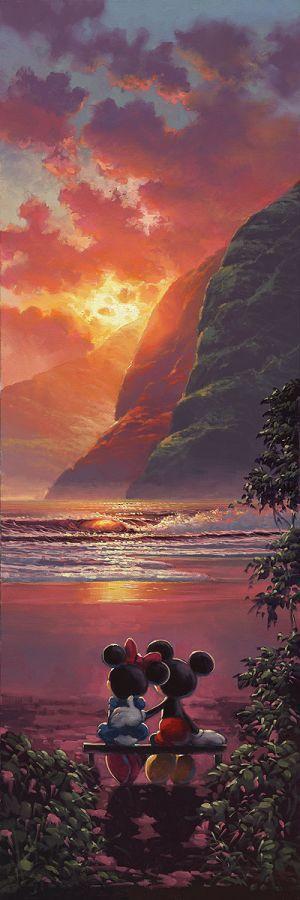 """Sunset Romance"" by Rodel Gonzalez for Disney Fine Art"