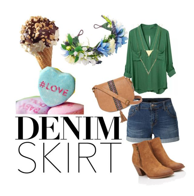 """greenn cinema"" by paola-diaz-ii on Polyvore featuring LE3NO and T-shirt & Jeans"