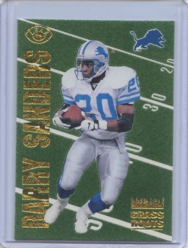 1996 Leaf Barry Sanders Grass Roots #13 Promo /5000