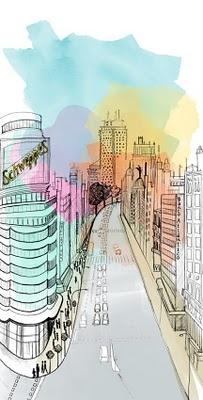 Gran Vía illustration - I