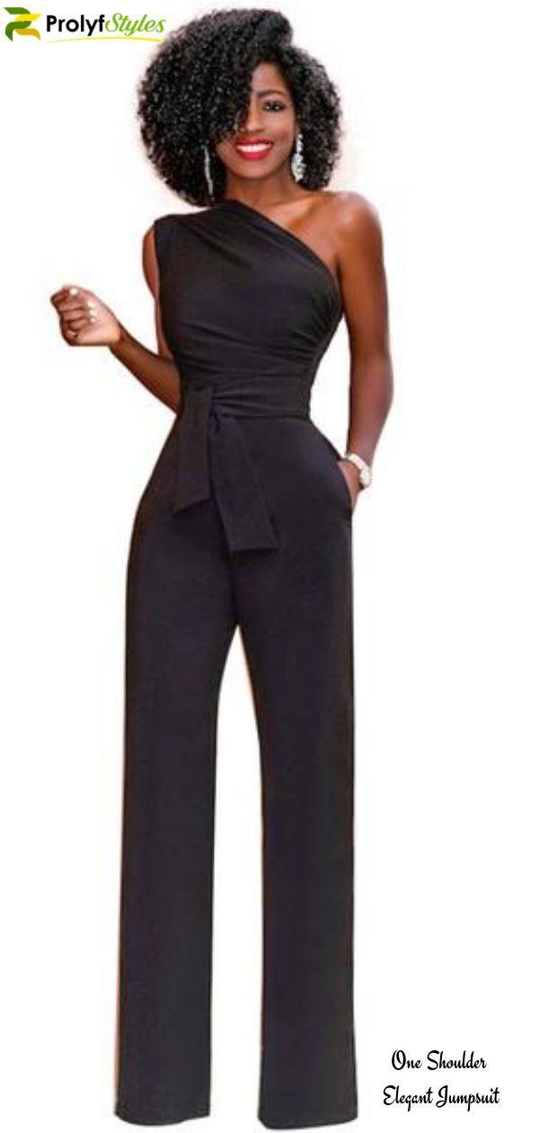 Ladies Summer One Shoulder Ruffles Romper Jumpsuit Cocktail Party Bodysuit Plus