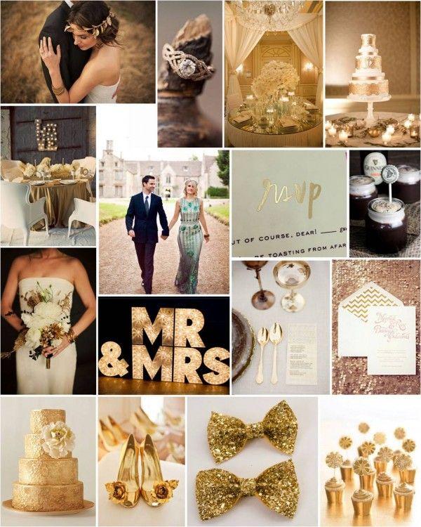 lush Gold Wedding