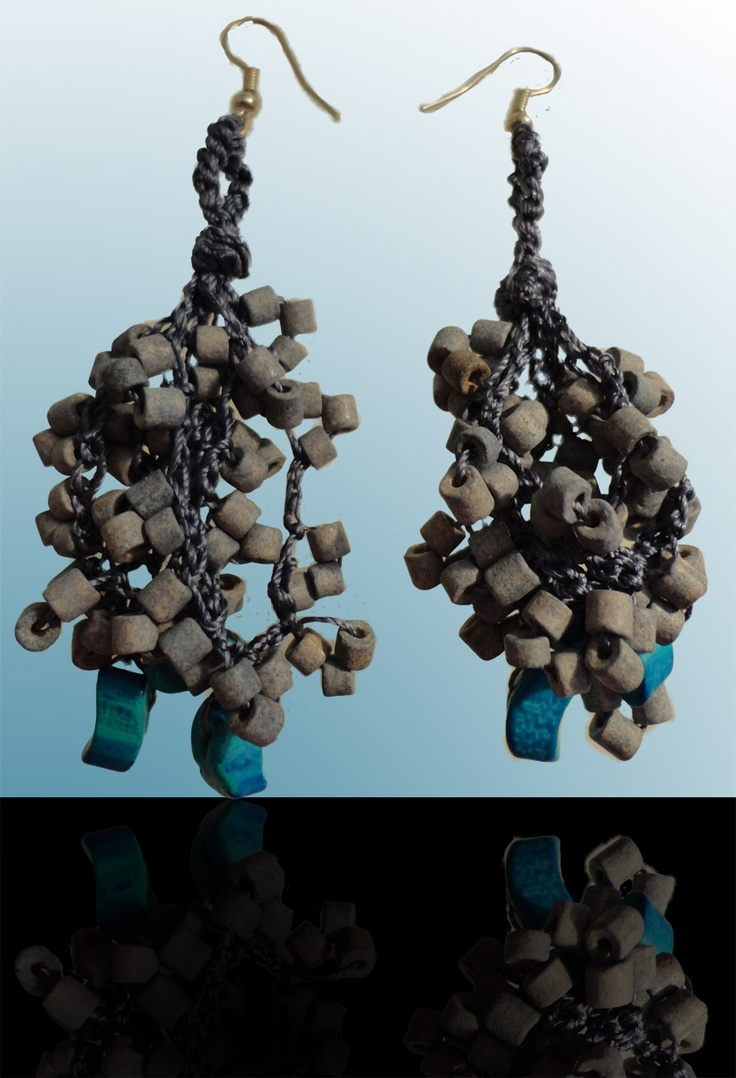 Turquoise: Those earrings makes you fashionable. A turquoise color twist on glamour.
