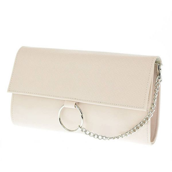 Nude Elegant Purse Evening Bags Removable Strap Maid of honor gift,... (1 010 UAH) ❤ liked on Polyvore featuring bags, handbags, clutches, evening handbags, evening hand bags, nude clutches, evening purses and hand bags