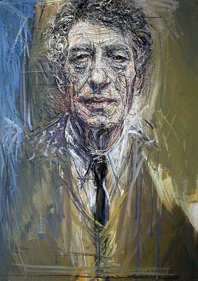 """Basically, I no longer work for anything but the sensation I have while working"" - Alberto Giacometti.  Portrait by Pierluigi Romani"
