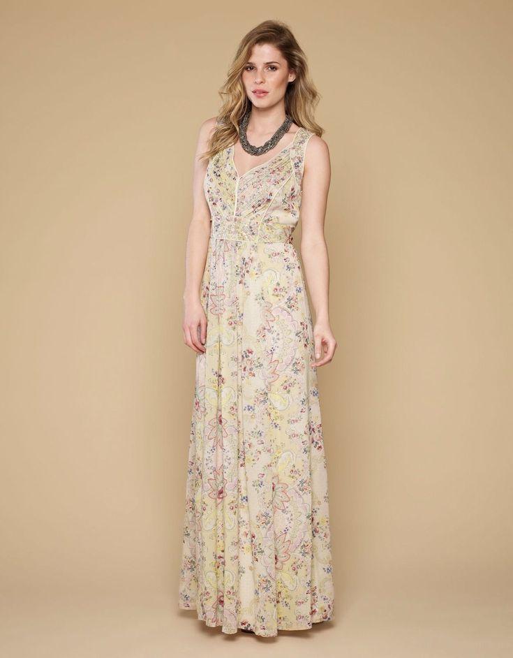 Monsoon Boho Embellished Maxi Dress UK 14
