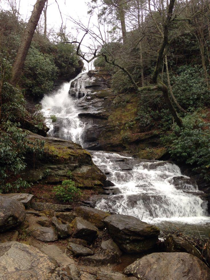 Waterfall close to cabin