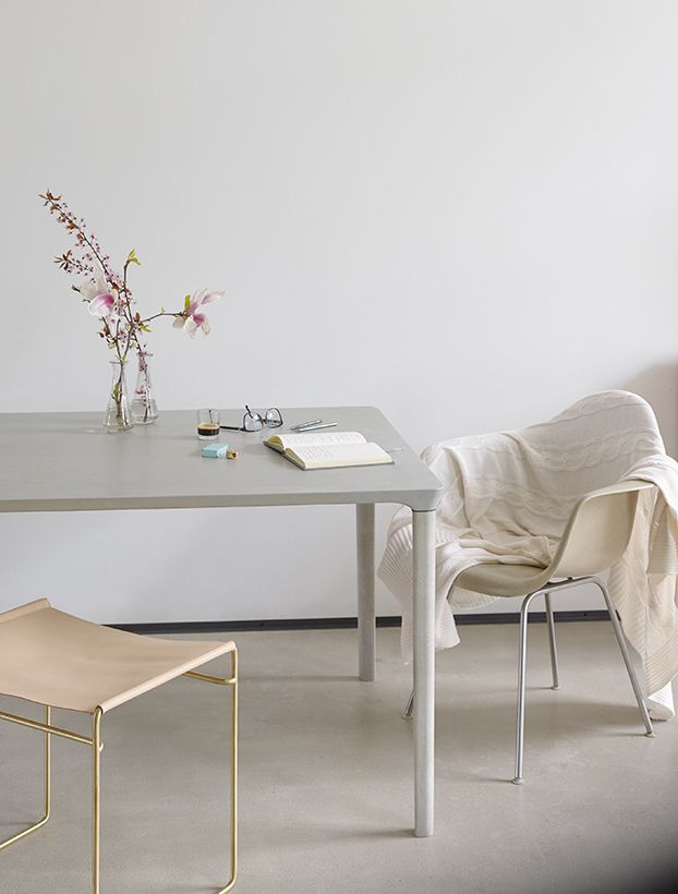 Concrete Table | Nina Mair | Architecture | Design | Austria | Based on Architectural Self- Supporting Structures | Feminine Delicate Curves | Monolithic Impression | Smooth Polished Surface | Dimensions: WxLxH = 95x220x74 cm | Weight: 160 kg |