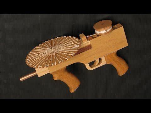 Tutorial — full auto mag fed rubber band gun - YouTube