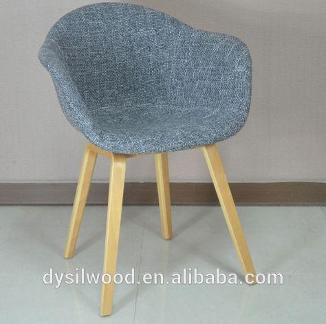 Modern wood armrest chair restaurant upholstery dining chair for sale
