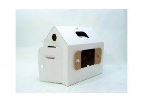 Детский домик из картонной коробки