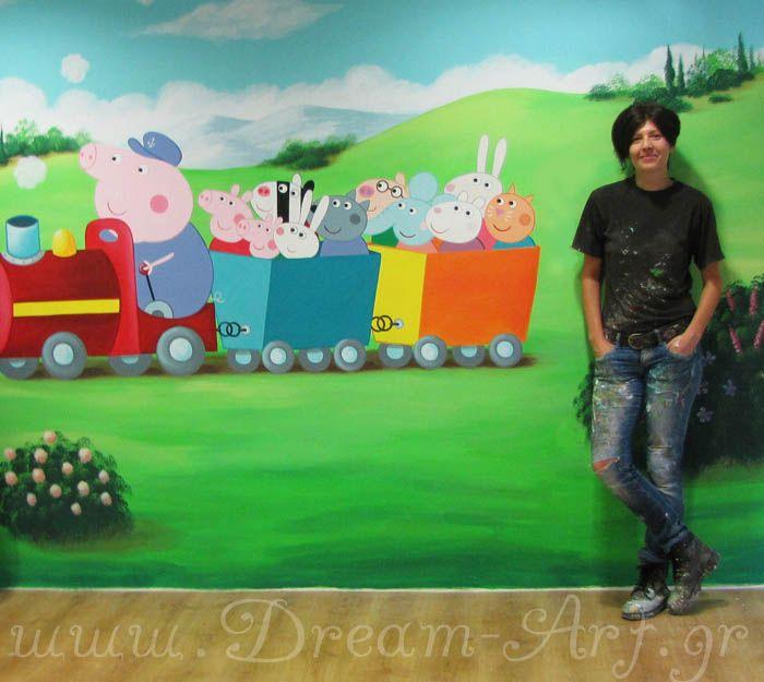 Peppa pig ζωγραφική σε επαγγελματικό χώρο