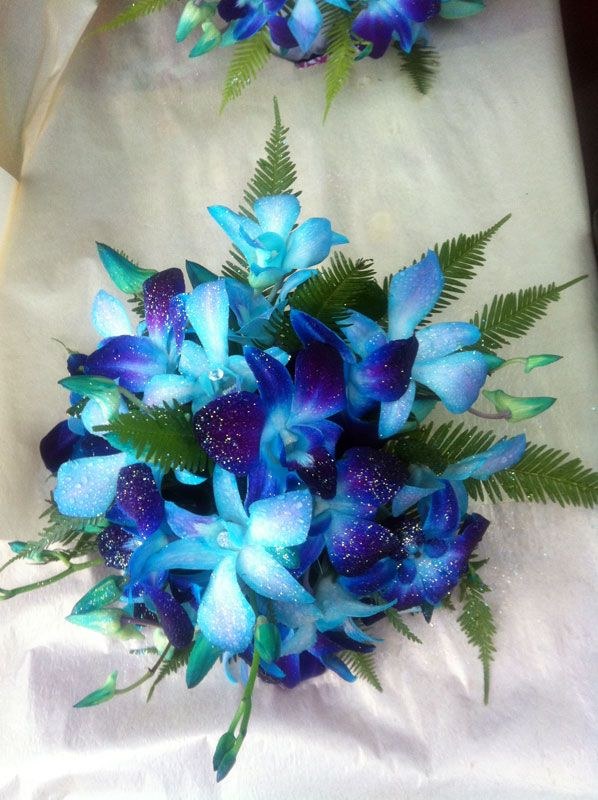 Another blue orchid bouquet