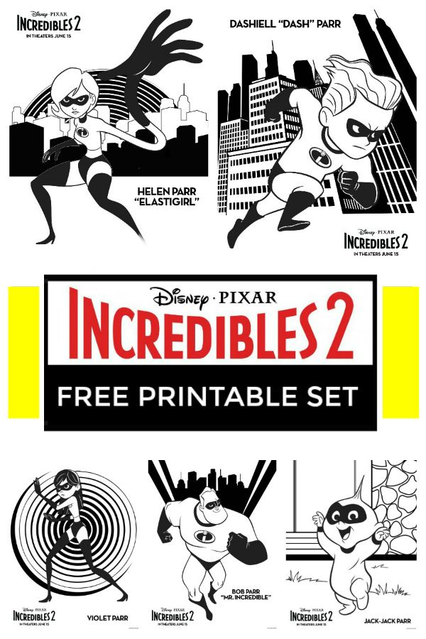 Printable Incredibles 2 Coloring Pages Easy Budget Crafts Free Coloring Pages Disney Activities Free Coloring