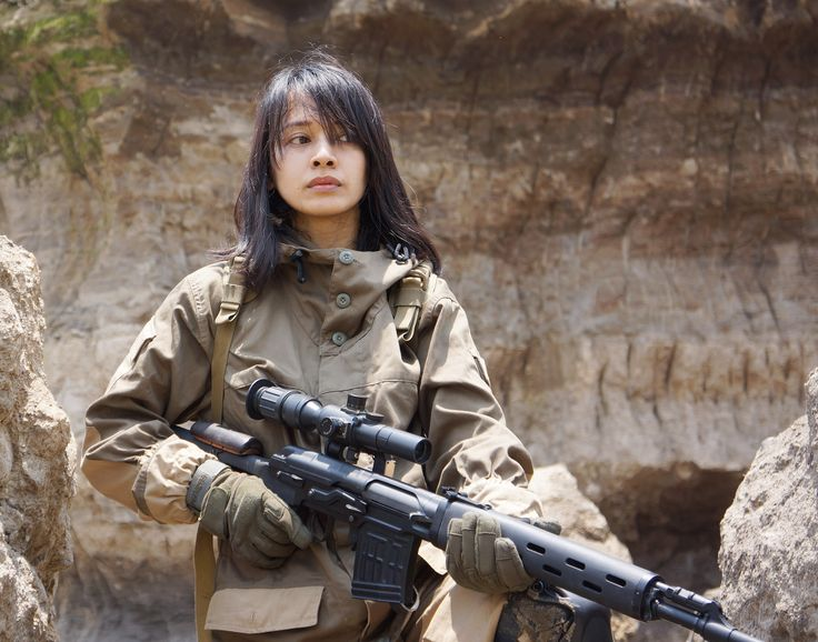 airsoft girl, girls army, sniper woman, milsim operator, gun & girl, semarang skirmish team, svdragunov, gorka suit, airsoft international, cosplay girl, brown canyon semarang, icha swan, russian sniper