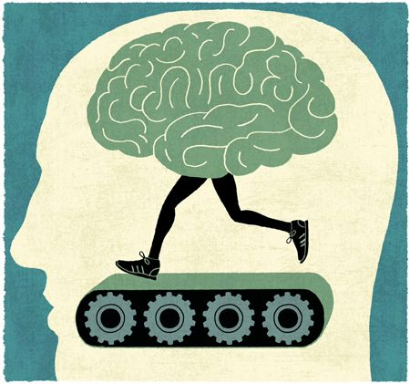 James Steinberg's image suggests that even brains need a good workout to stay fit: