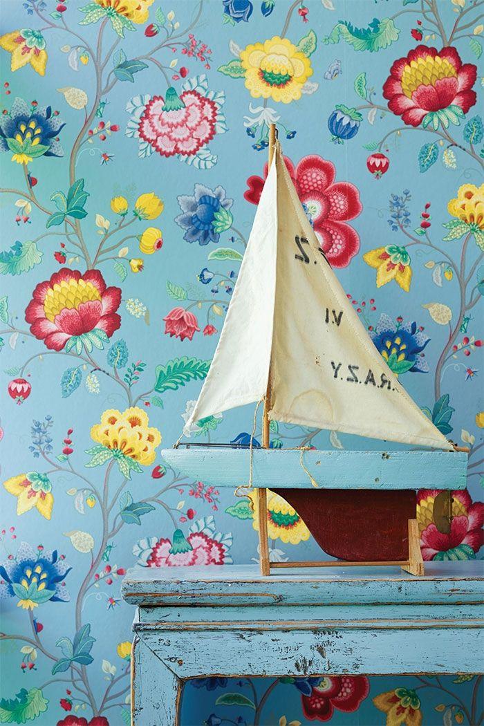 PiP Floral Fantasy | Light Blue Wallpaper | PiP Studio ©