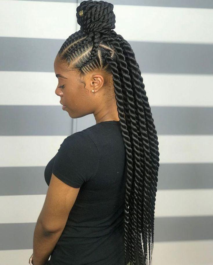 African Hair Braiding Feedin Braid Ideas Twist Braid Hairstyles African Braids Hairstyles Braided Hairstyles