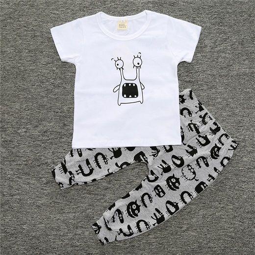 SY154 2016 Новое лето ребенок мальчик одежда хлопок детская одежда мода с коротким рукавом футболки + брюки 2 шт. новорожденной девочки одежда набор купить на AliExpress